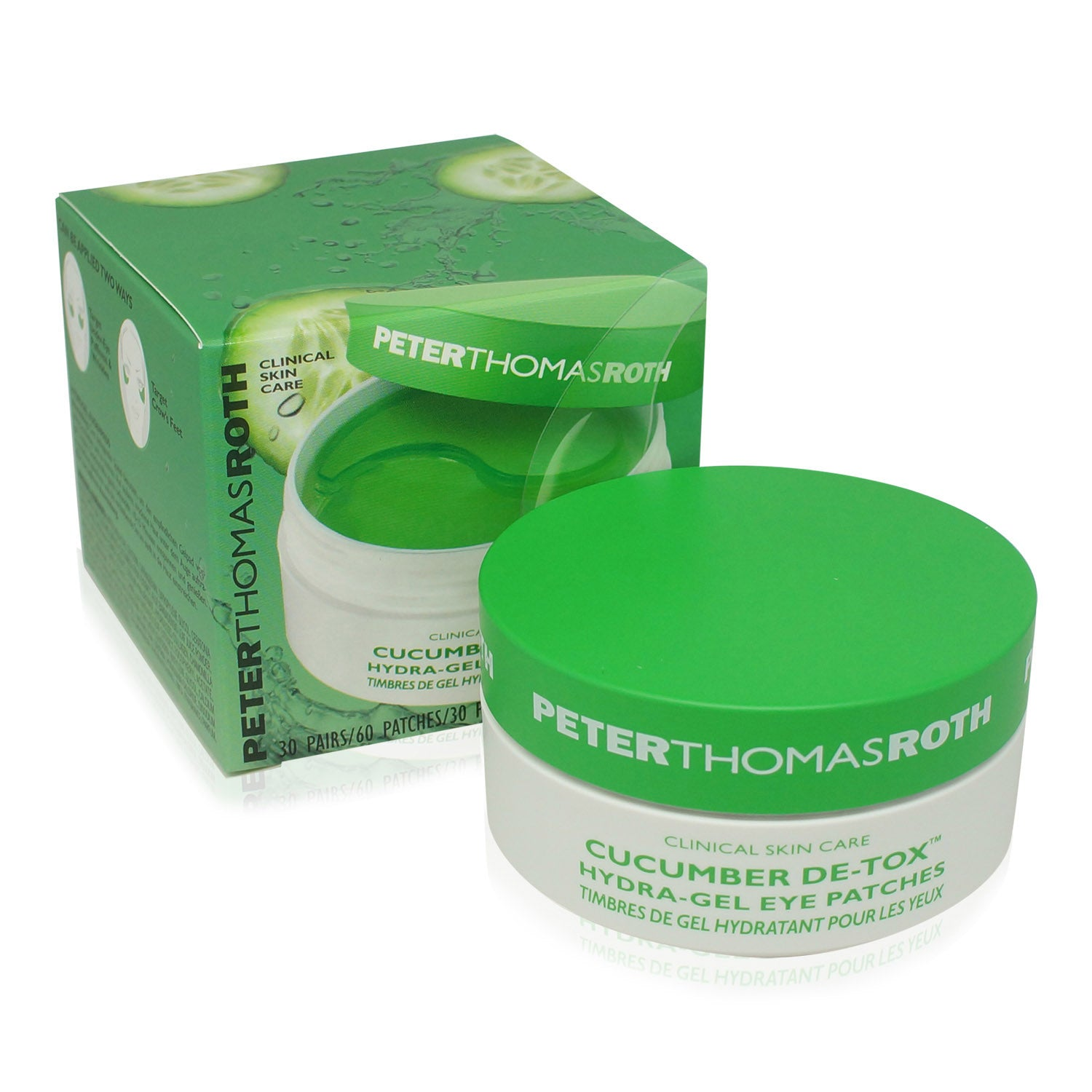 PETER THOMAS ROTH ~ CUCUMBER HYDRATING EYE PATCHES ~ 60PCS *2018*
