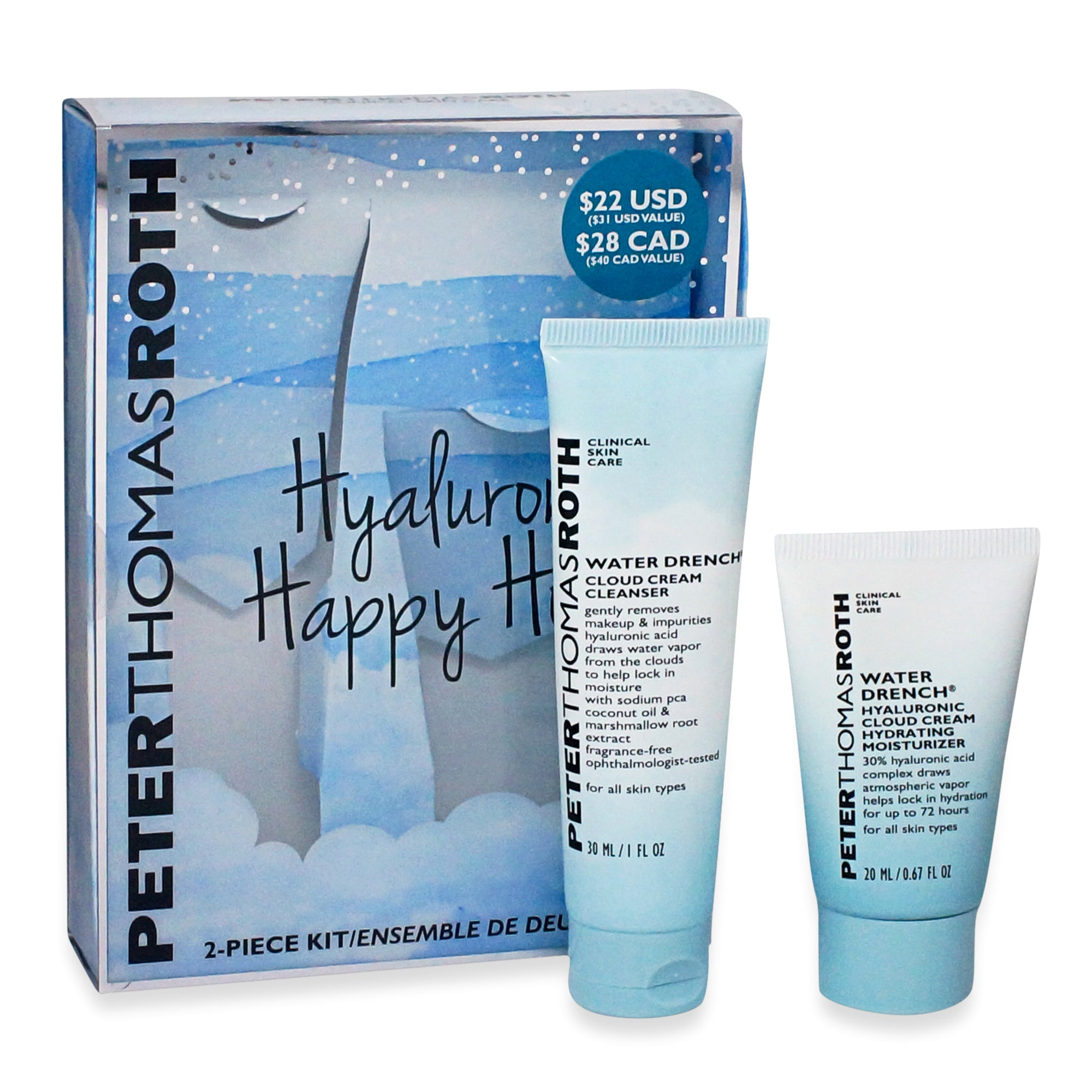 PETER THOMAS ROTH ~ HYALURONIC HAPPY HOUR KIT * NEW 2019