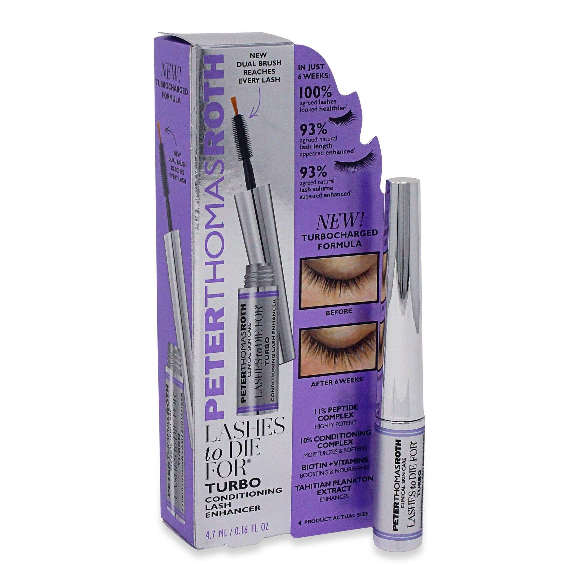 PETER THOMAS ROTH ~  LASHES TO DIE FOR ~ CONDITIONING LASH ENHANCER ~ 0.16 OZ