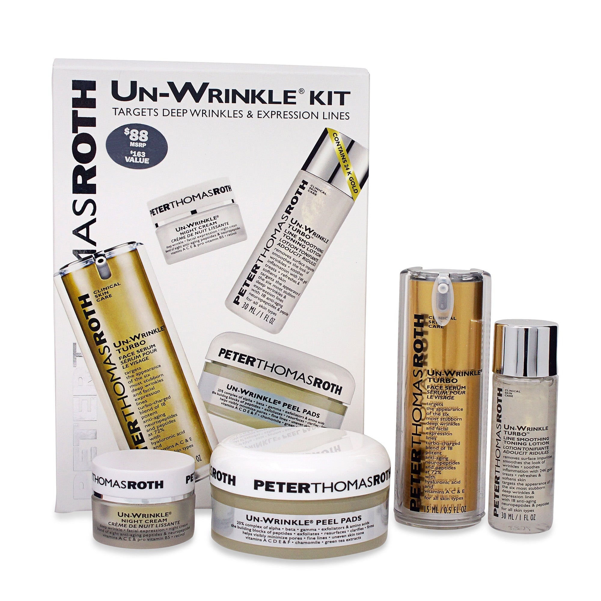 PETER THOMAS ROTH ~ UN-WRINKLE KIT (4 PRODUCTS)