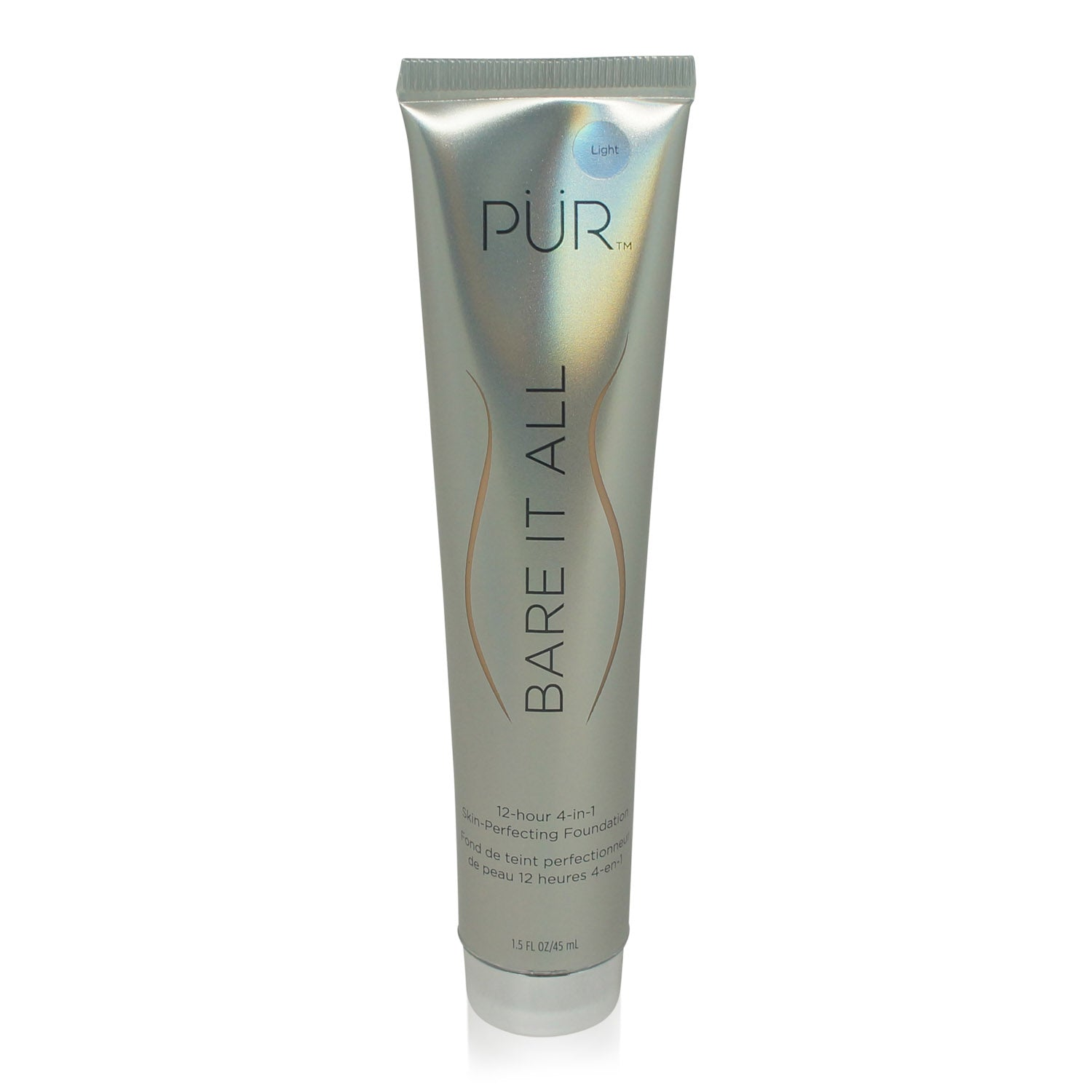 PUR Bare It All 4 in 1 Skin Perfecting Foundation 12 Hour Wear Light 1.5 oz.