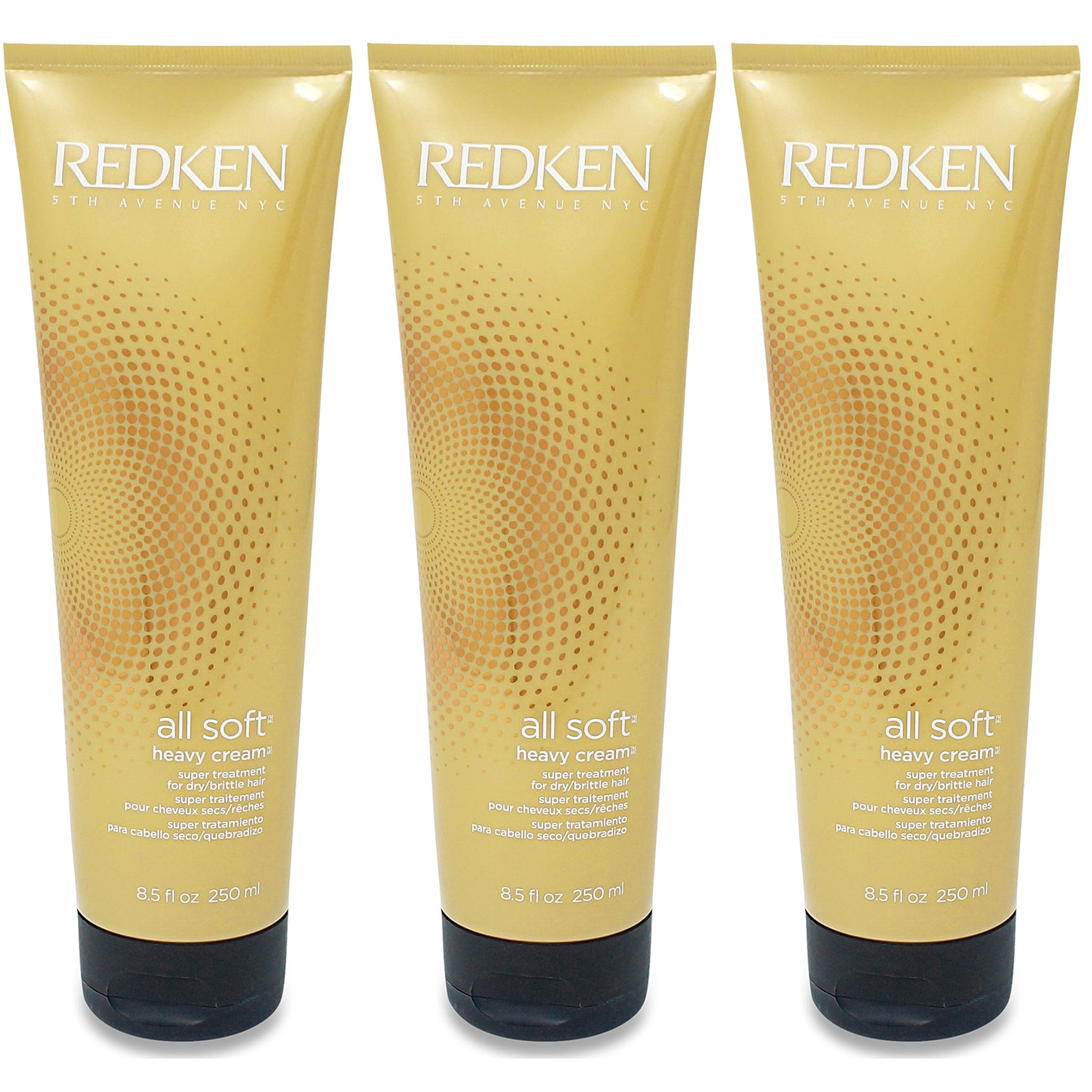 REDKEN ~ ALL SOFT HEAVY CREAM ~ 8.5OZ- 3 Pack