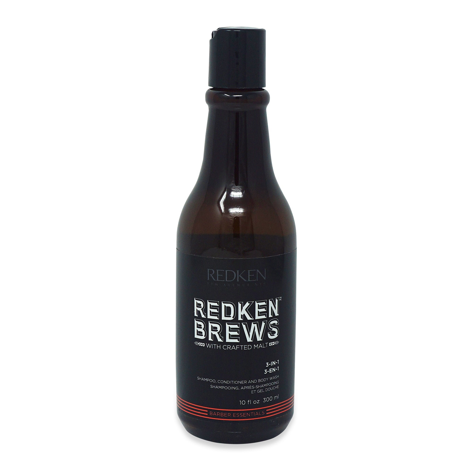REDKEN ~ BREWS ~ 3-IN-1 SHAMPOO CONDITIONER AND BODY WASH ~ 10OZ