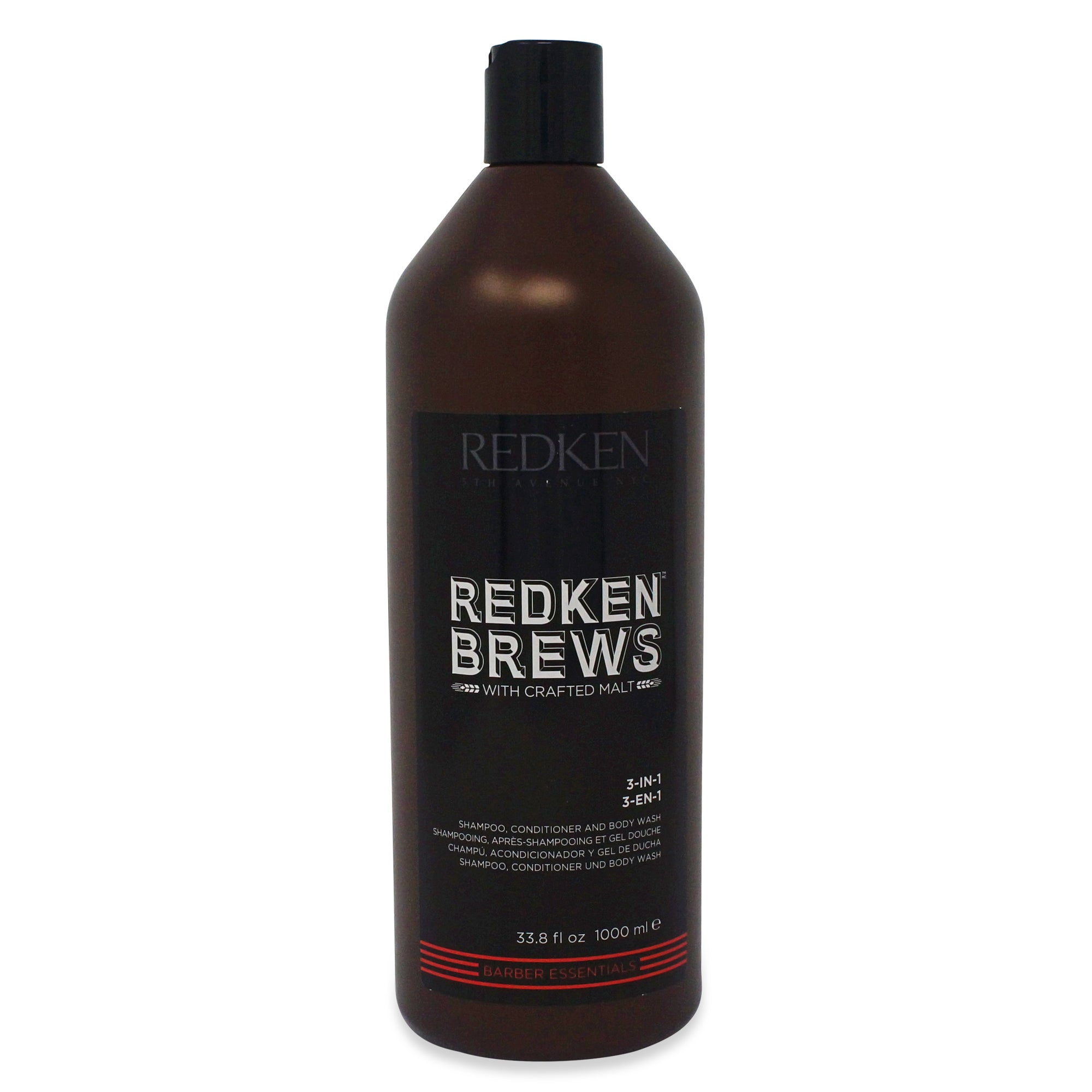 REDKEN ~ BREWS ~ 3-IN-1 SHAMPOO CONDITIONER AND BODY WASH ~ 33.8OZ