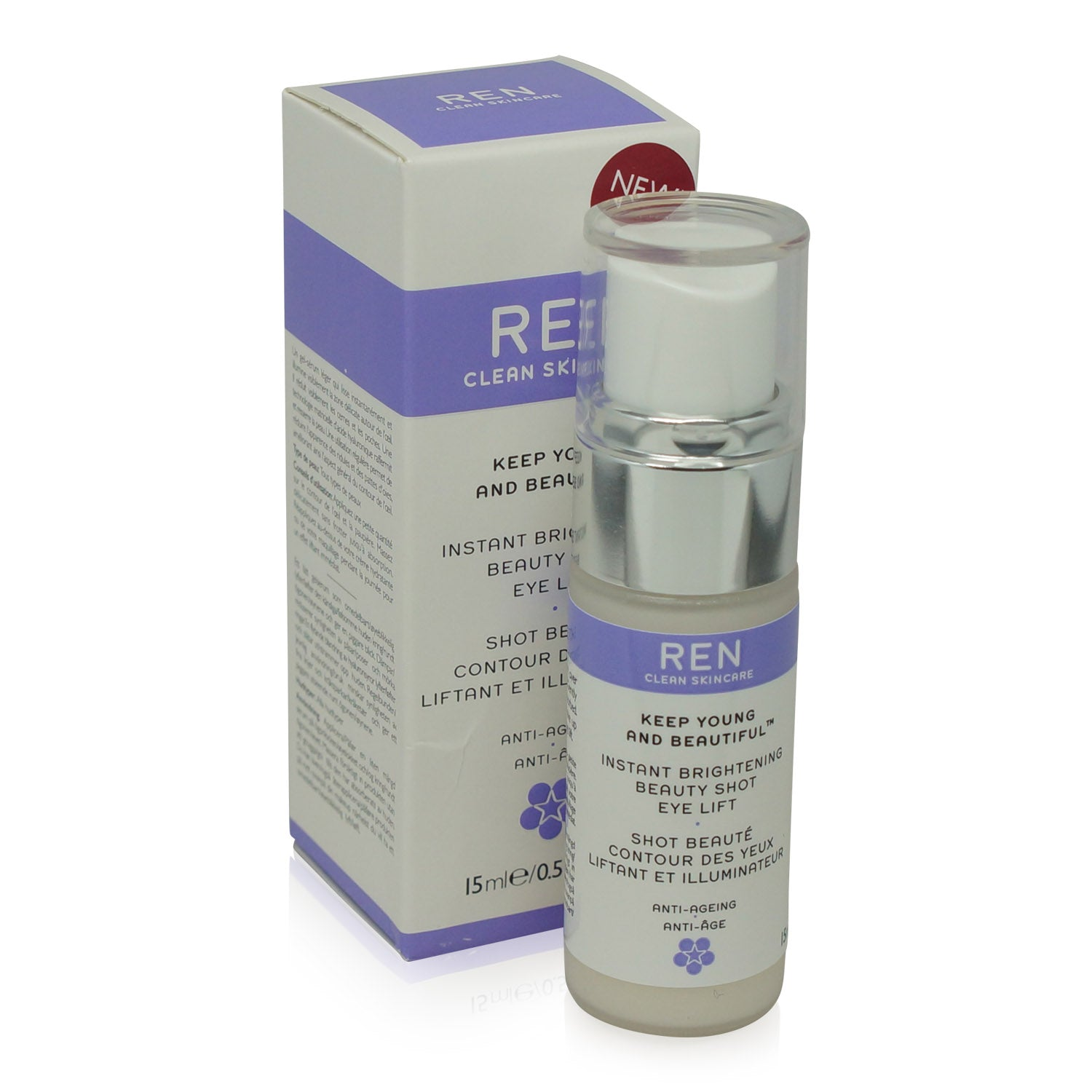 REN ~ KEEP YOUNG AND BEAUTIFUL ~ INSTANT BRIGHTENING BEAUTY SHOT EYE LIFT
