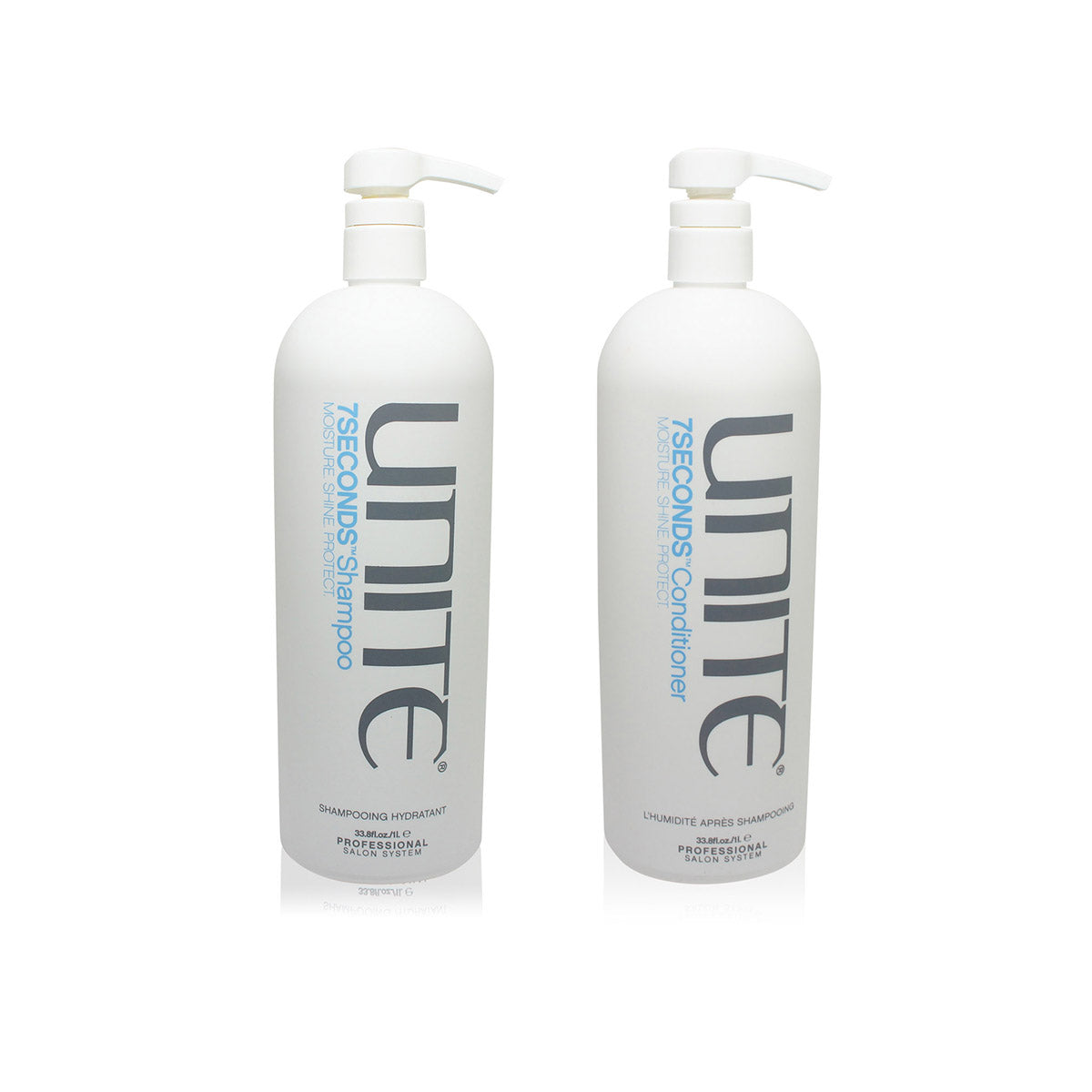 UNITE ~ 7 SECONDS SHAMPOO AND CONDITIONER LITER COMBO PACK