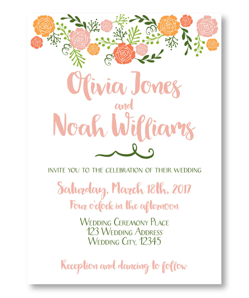 Spring Colorful Wedding Collection - Invitation, Thank You Card and ...