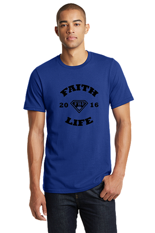 FBF Faith Life Men's Fitted Crew - Blue
