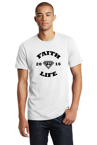 FBF Faith Life Men's Fitted Crew - White