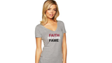 Ladies Faith Before Fame V-Neck