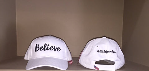 Ladies Believe White Hat