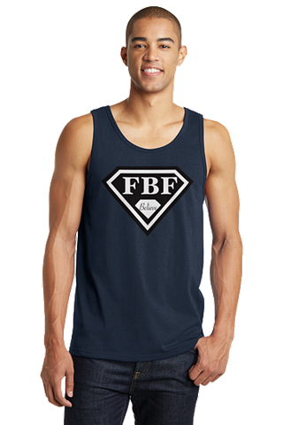 FBF Signature Shield Jersey Tank - Navy