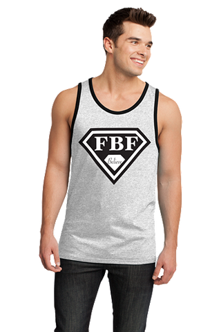 FBF Signature Shield Jersey Tank - White