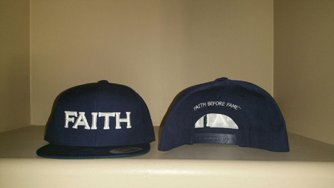 FAITH Navy Snap Back Hat