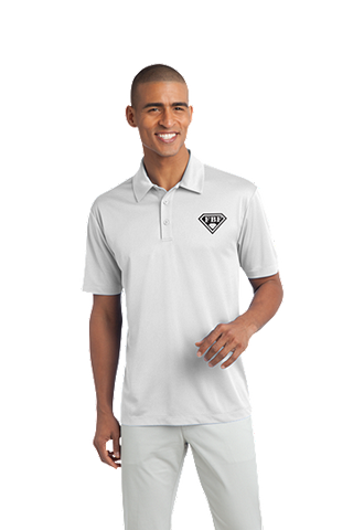 FBF Men's Dri Fit Performance Polo - White