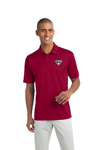 FBF Men's Dri Fit Performance Polo - Red
