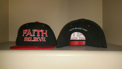 FAITH Believe Black/Red Snap Back Hat