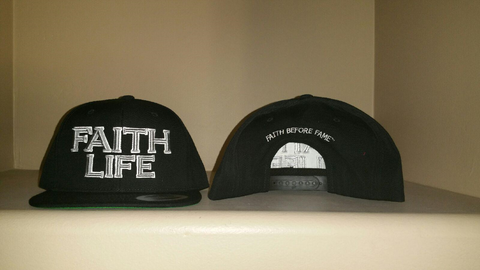 FAITH Life Black Snap Back Hat