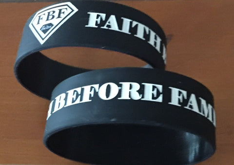 "1"" Faith Before Fame Wristband"