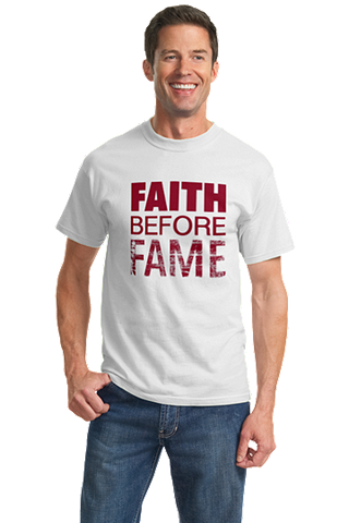 Men's FAITH BEFORE FAME Distressed Shirt