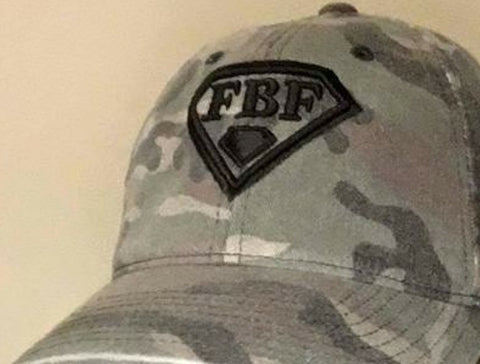 Ladies Camo FBF Hat, FBF Raised Logo
