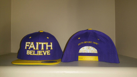 FAITH Believe Purple/Gold Snap Back Hat
