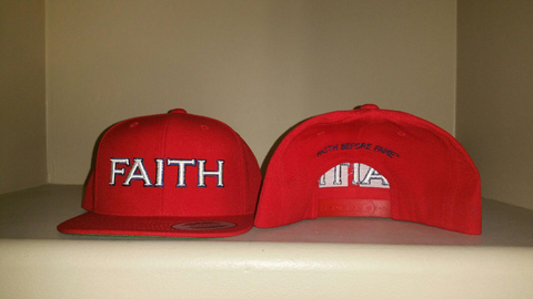 FAITH Red Snap Back Hat