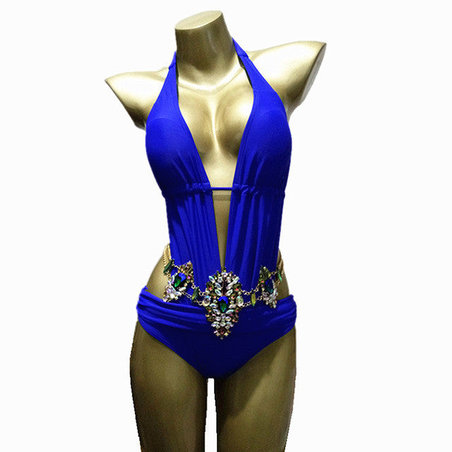 YACHT QUEEN CRYSTAL SWIMSUIT