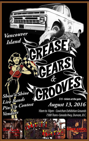 Aug 13th, Our booth was at at Grease, Gears & Grooves Show 'N Shine - Duncan