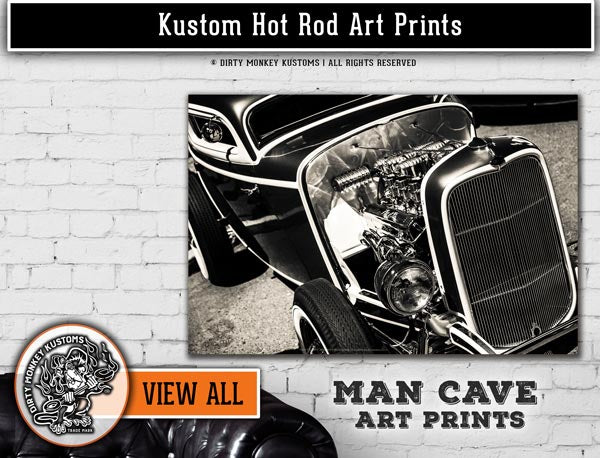 Kustom Car & Hot Rod Art Prints
