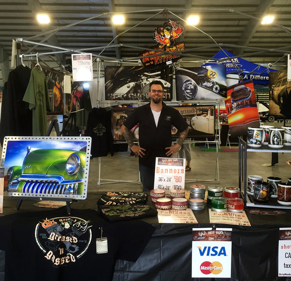 Dirty Monkey Kustoms Car Show Vendor Booth