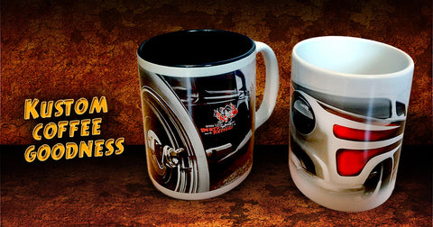 hand crafted car guy coffee mugs