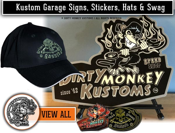 GearHead hats, Garage Signs & Stickers for Car Guys