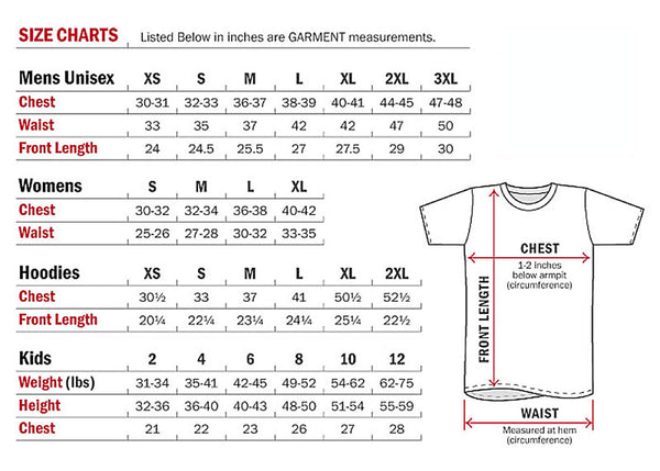 Shirt sizing guide