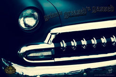 """ '54 Chev Blue Boy"" Hot Rod photo garage banner"