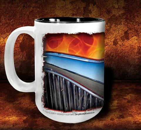 'Flame 'n '34'  hot rod kustom coffee mug