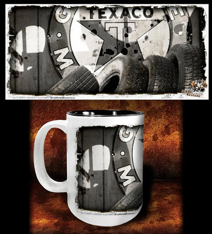 'Tired Out'  kustom coffee mug