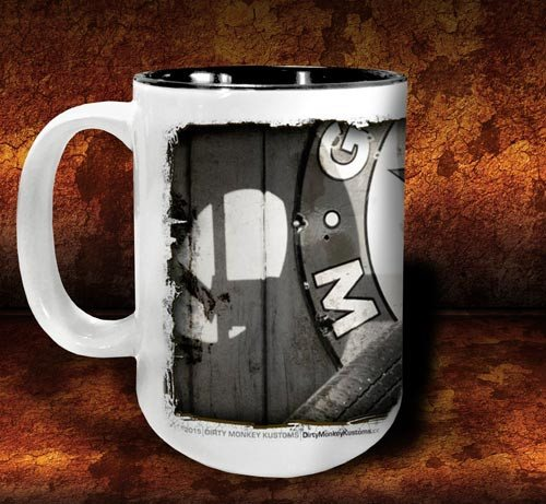 'Tired Out'  kustom coffee mug - Dirty Monkey Kustoms - 2