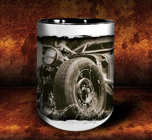 'Colin's Revenge'  kustom rat rod coffee mug - Dirty Monkey Kustoms - 3