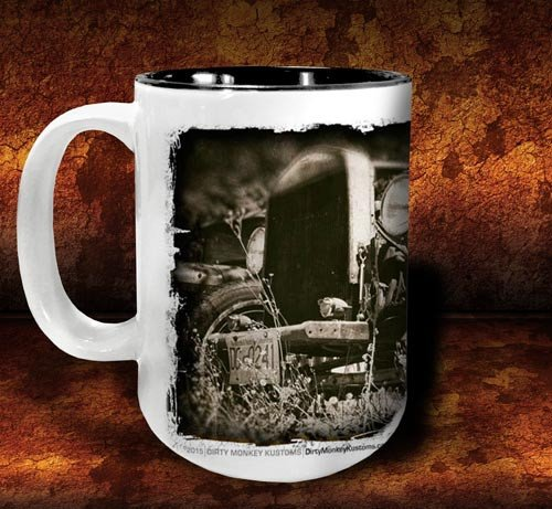 'Colin's Revenge'  kustom rat rod coffee mug - Dirty Monkey Kustoms - 2