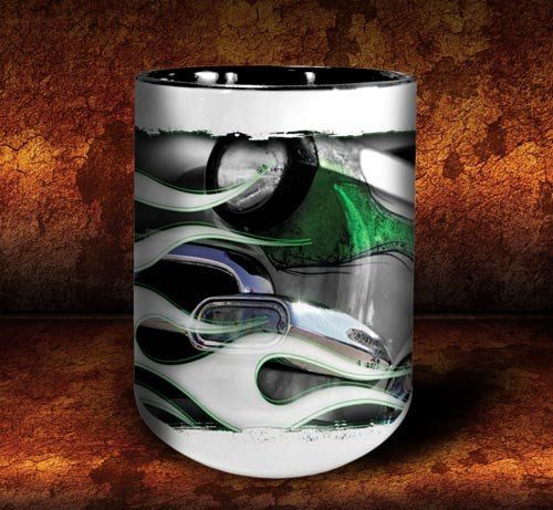 'Green Mile'  kustom hot rod coffee mug - Dirty Monkey Kustoms - 3