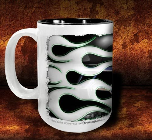 'Green Mile'  kustom hot rod coffee mug - Dirty Monkey Kustoms - 2