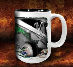 'Green Mile'  kustom hot rod coffee mug - Dirty Monkey Kustoms - 4