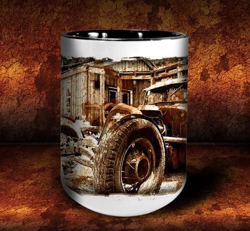 'Rat Brothers'  kustom rat rod coffee mug - Dirty Monkey Kustoms - 3