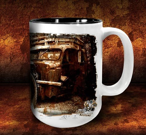 'Rat Brothers'  kustom rat rod coffee mug - Dirty Monkey Kustoms - 2