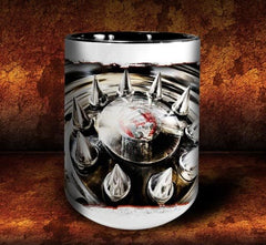 'Spiked Kenny'  kustom big rig coffee mug - Dirty Monkey Kustoms - 3