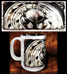 'Spiked Kenny'  kustom big rig coffee mug - Dirty Monkey Kustoms - 1