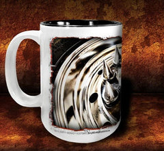 'Spiked Kenny'  kustom big rig coffee mug - Dirty Monkey Kustoms - 2