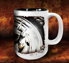 'Spiked Kenny'  kustom big rig coffee mug - Dirty Monkey Kustoms - 4
