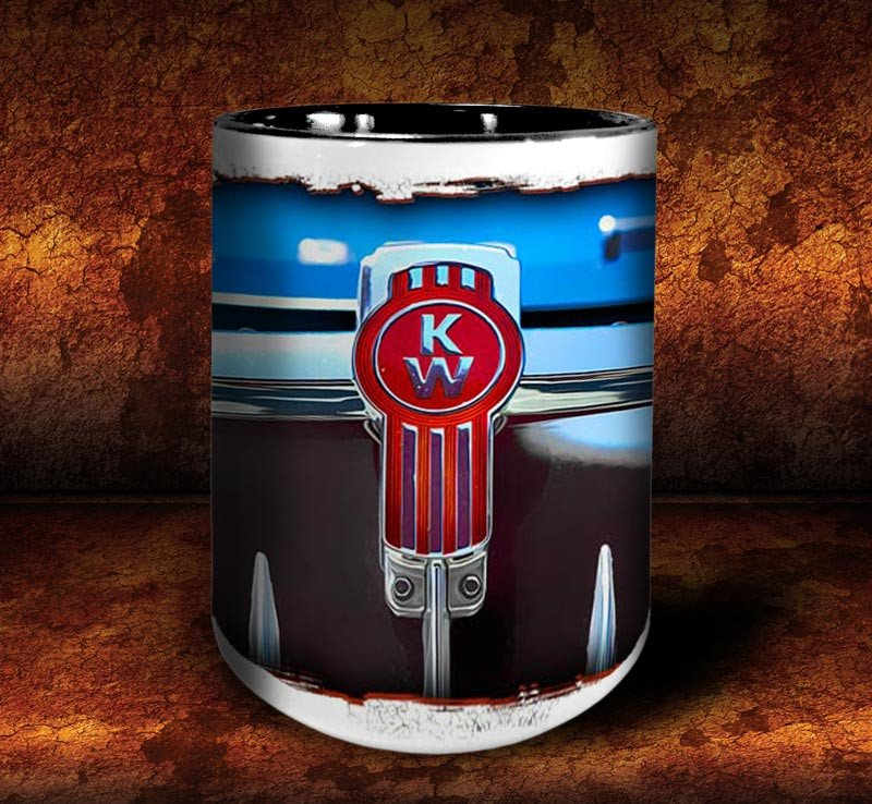 'Big Kenny'  kustom big rig coffee mug - Dirty Monkey Kustoms - 3